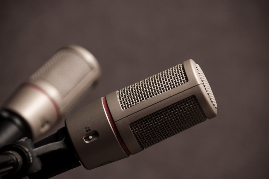 General Two Gray Microphones